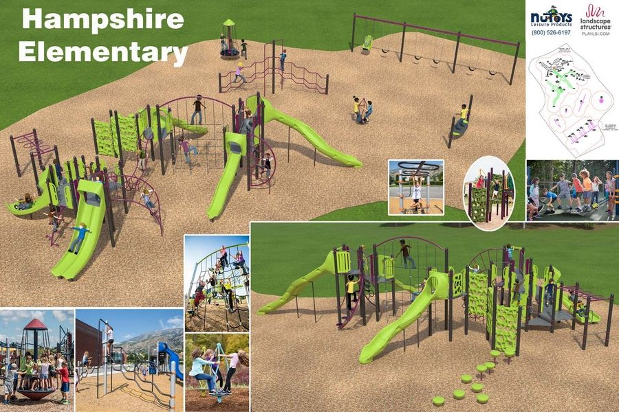 Conceptual design for new Hampshire Elementary School playground.