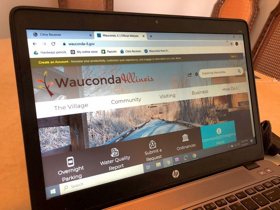 Russell Lissau/rlissau@dailyherald.comWauconda officials are considering revamping the municipal website.