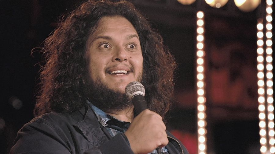 Comedian Felipe Esparza performs at the Improv Comedy Showcase in Schaumburg.