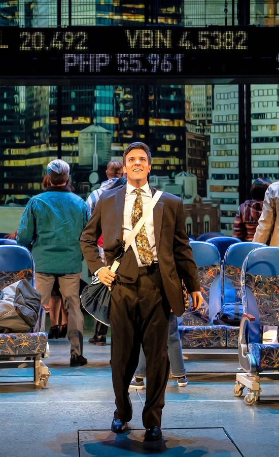 "Billy Harrigan Tighe plays Brantley Foster, a Minnesota native who tries to make it in New York's corporate world, in the world-premiere musical comedy ""The Secret of My Success"" at the Paramount Theatre in Aurora."