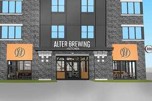 Alter Brewing Co. is opening a brewery and kitchen in the ground level of a new five-story building at 12 S. First St. in St. Charles.