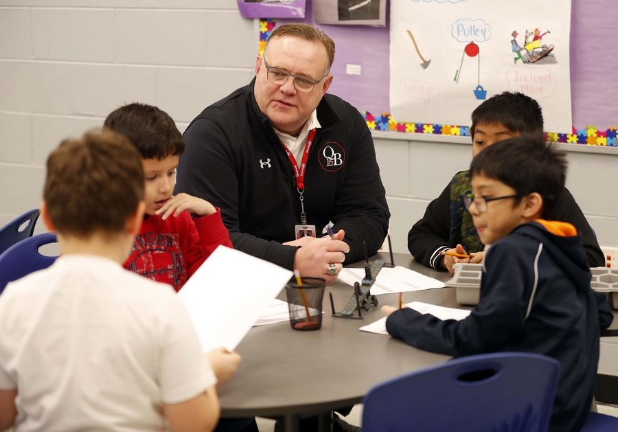 """Our kids really enjoy this,"" Queen Bee School District 16 Superintendent Joseph Williams said of the Project Lead the Way program. ""We think we see a benefit. They're increasingly confident. They're engaging real problems with practice."""