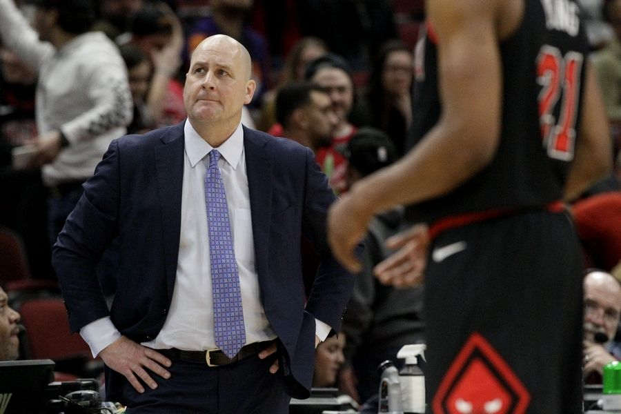 With the Bulls playing short-handed, coach Jim Boylen acknowledged before Tuesday's game that he has to look beyond the win-lost record to find positives this season.