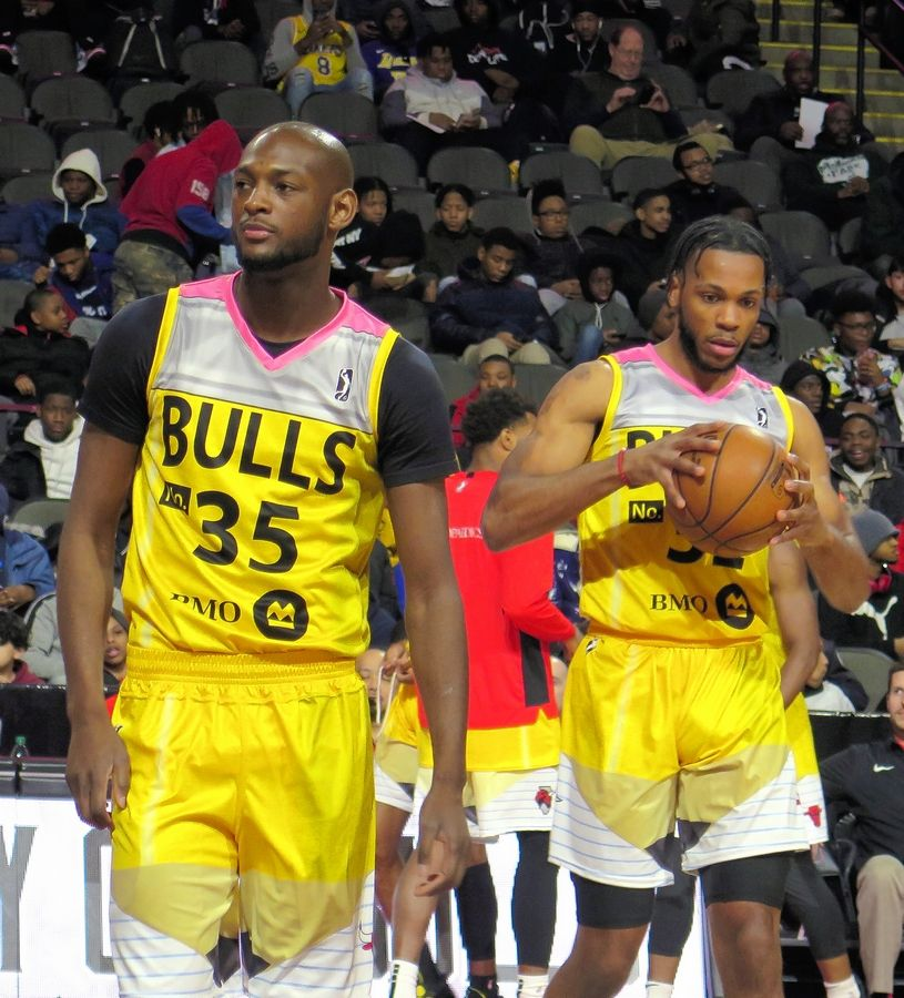Windy City Bulls players wore jerseys designed to look like a No. 2 pencil, which were auctioned off to support the U-46 Educational Foundation.