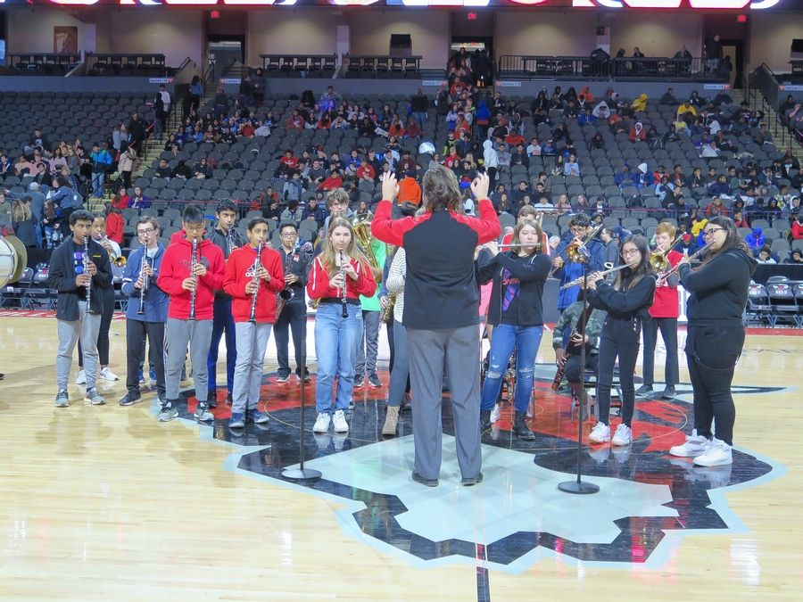 Students and teachers ruled the day during the Feb. 20 Windy City Bulls Education Day game, sponsored by BMO Harris.