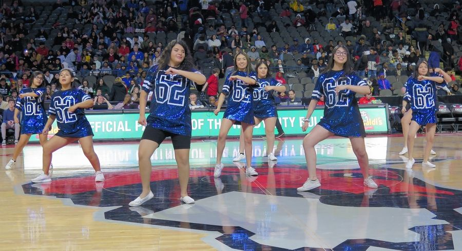 Students participated at every turn during the Feb. 20 Education Day Windy City Bulls game.