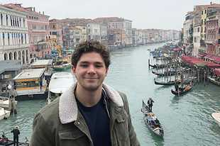 John Knox of Geneva, a sophomore at Marquette University, is pictured in Venice, Italy, while studying abroad at Gonzaga University in Florence, Italy. Gonzaga closed its Florence campus and is sending students home to finish classes online.