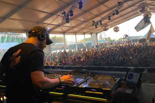 DJ Jason Ross entertained the crowd during the first day of the Spring Awakening Music Festival last year in Hoffman Estates. Festival operators won't return to Hoffman Estates in 2020, choosing instead to relocate to the event's former home in Chicago.