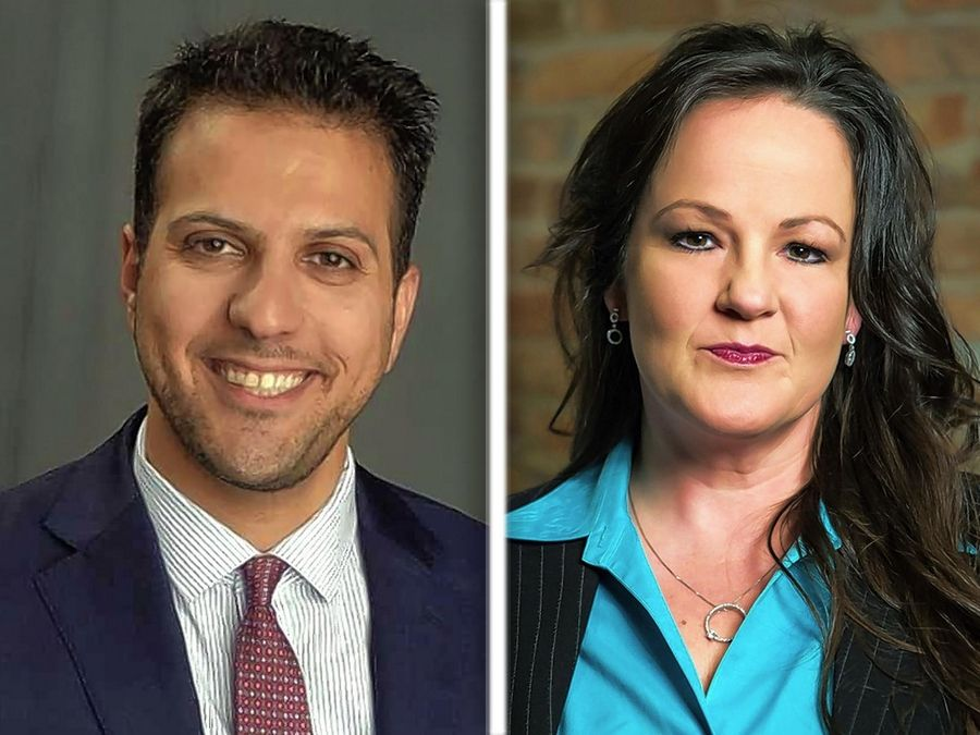 Abdelnasser Rashid and Tammy Wendt are Democratic candidates for the Cook County Board of Review District 1 seat.