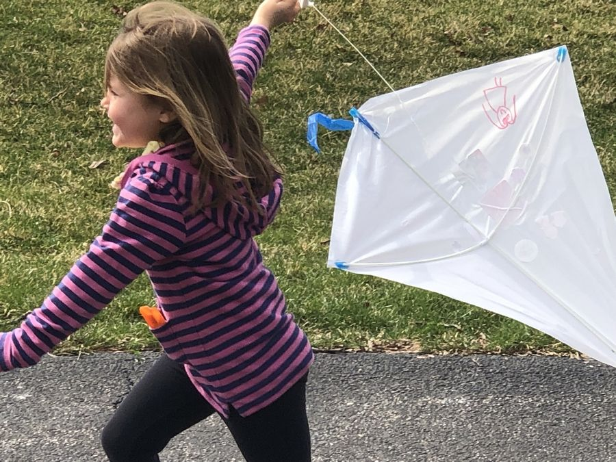 "Kids can create and fly their own kite during Lombard Park District's ""Take Time For Tots Day"" on Saturday, March 21, at Sunset Knoll Recreation Center."