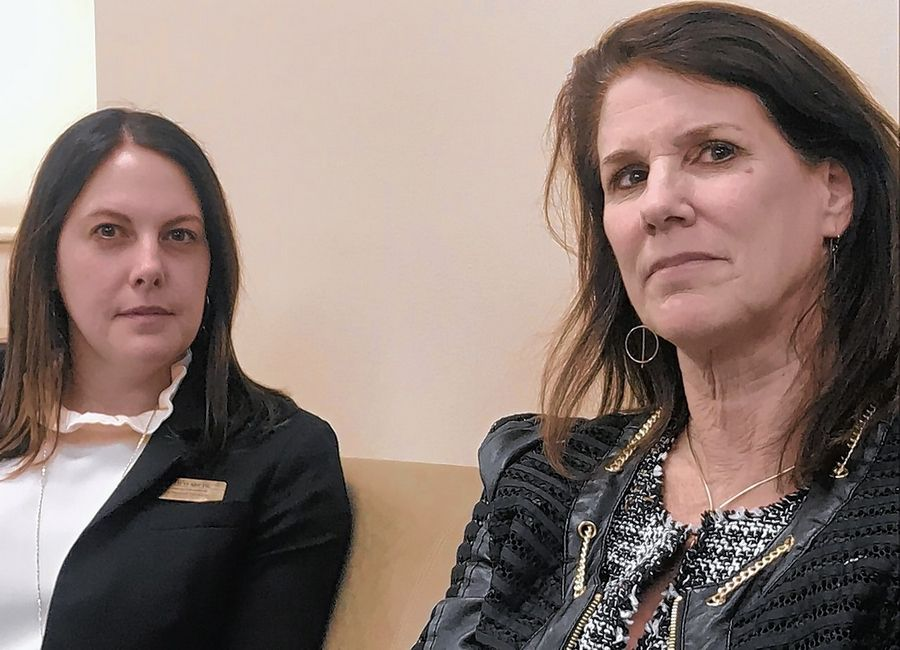 After participating in several days of hearings in Springfield about ways to make schools safer and better, Northwest Suburban Special Education Organization Superintendent Judy Hackett, right, and Assistant Superintendent Heather Miehl say the goals are constant but the process continues to evolve.