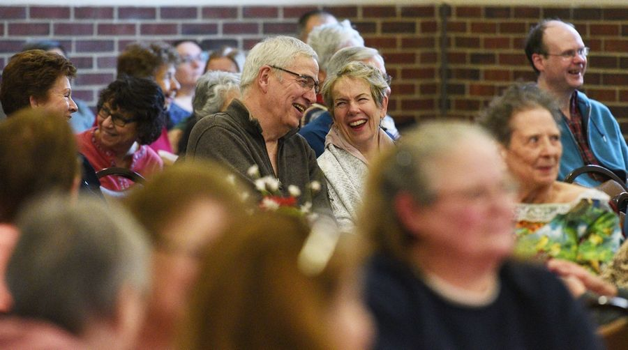 The Cook Memorial Public Library District and the Libertyville Senior Center hosted musician Eddie Korosa Jr. on Monday, which brought smiles to the 140 members of the audience.