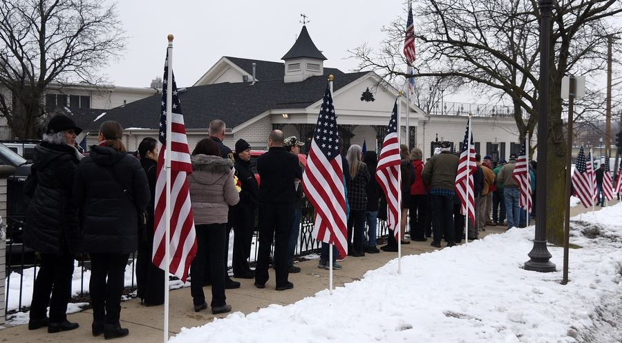 "Symonds-Madison Funeral Home in Elgin decided to launch ""Operation LOVE,"" an initiative to support veterans, after hundreds of people showed up Jan. 29 to the funeral of an unclaimed veteran. Another such funeral takes place Wednesday."