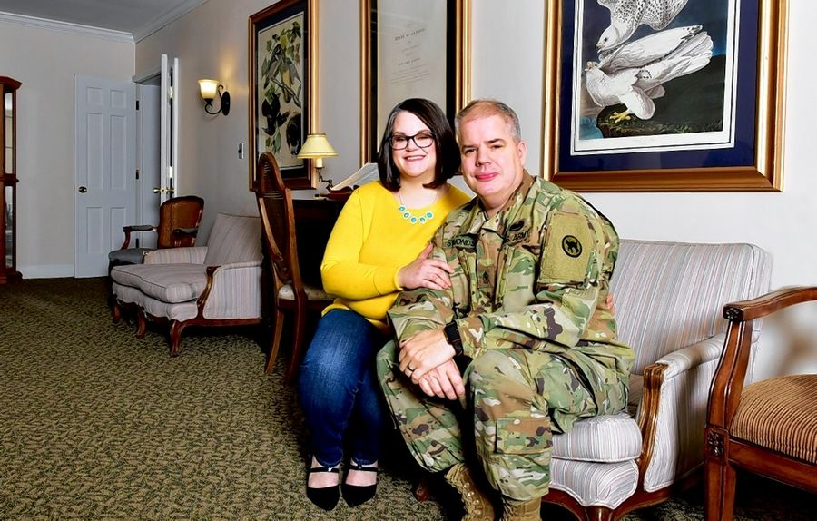 "Dan and Joy Symonds of Elgin launched ""Operation LOVE"" to help connect people who want to help veterans. Dan Symonds, right, serves in the Army Reserves."