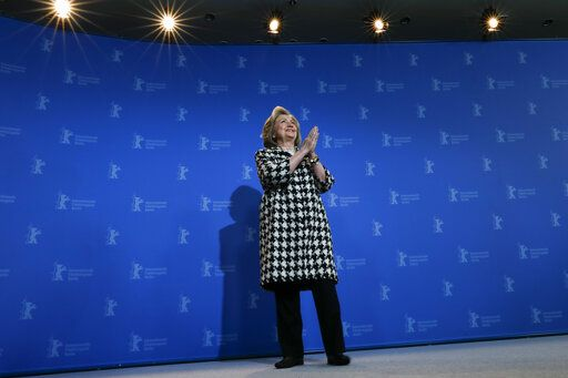 Former US Secretary of State, Hillary Clinton, poses for the photographers during a photo-call for the film 'Hillary' ' during the 70th International Film Festival Berlin, Berlinale in Berlin, Germany, Tuesday, Feb. 25, 2020.