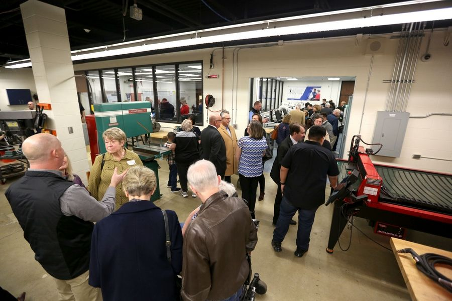 Northwest Suburban High School District 214 and its Education Foundation celebrated Friday's grand opening of the Saul Ploplys Automation and Technology Lab at Buffalo Grove High School.
