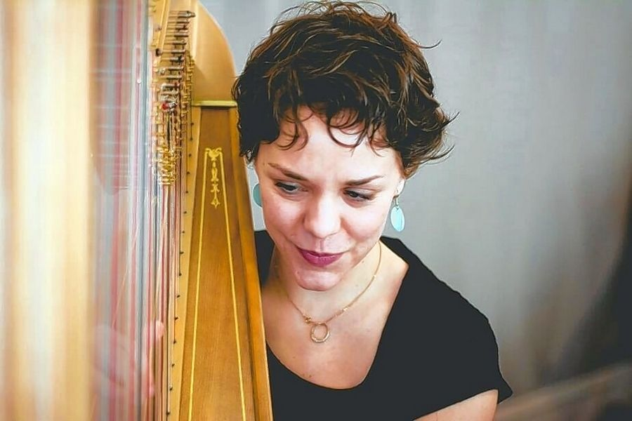 "On Thursday, March 19, Janelle Lake, principal harpist with the Elmhurst Symphony Orchestra, will offer an evening of music at the ""Fashionable FUNdraiser"" event."