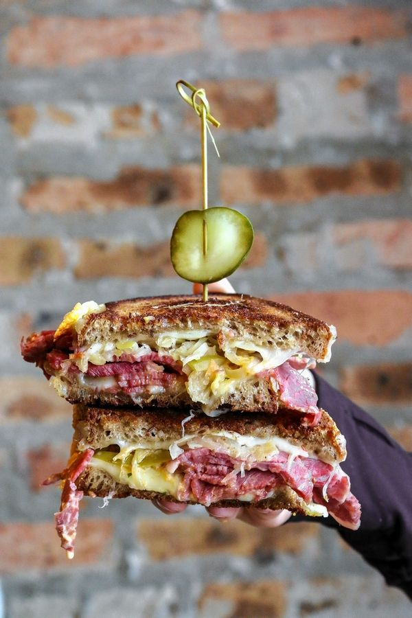 The Reuben sandwich is a specialty at Cortland's Garage during the Arlington Heights' bar's Shamrock 'N' Roll pop-up in March.
