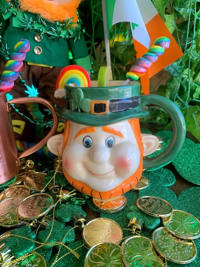 The I heart Gingers Mule comes served in a leprechaun mug at Cortland's Garage now through March 31.
