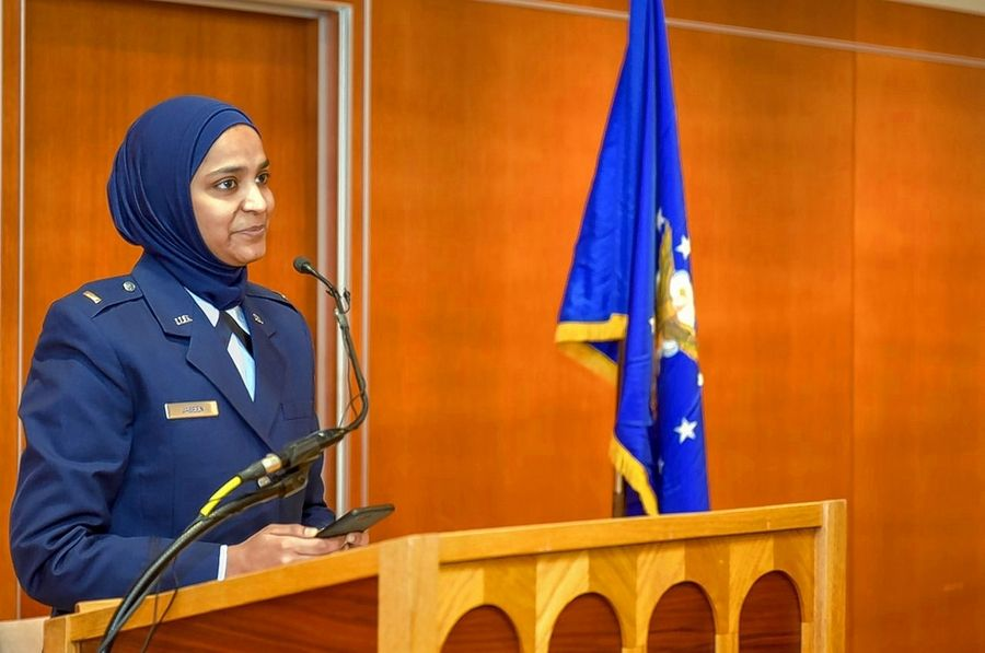 Second Lt. Saleha Jabeen speaks about her journey and what it means to be the first female Muslim chaplain candidate for the Air Force.