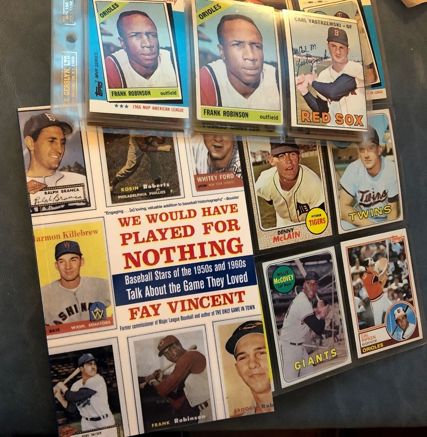 "Baseball fans can get out their old baseball cards and dive into ""We Would Have Played For Nothing,"" Faye Vincent's interviews with stars of the 1950s and '60s."