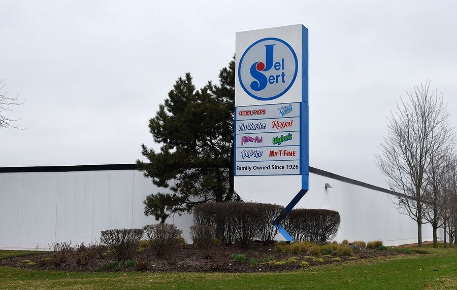 Two workers at the Jel Sert factory in West Chicago have tested positive for the coronavirus. Starting Friday morning, Jel Sert will temporarily close a portion of the facility to allow for a deep cleaning of the manufacturing area, bathrooms and other common spaces, a company spokeswoman said.