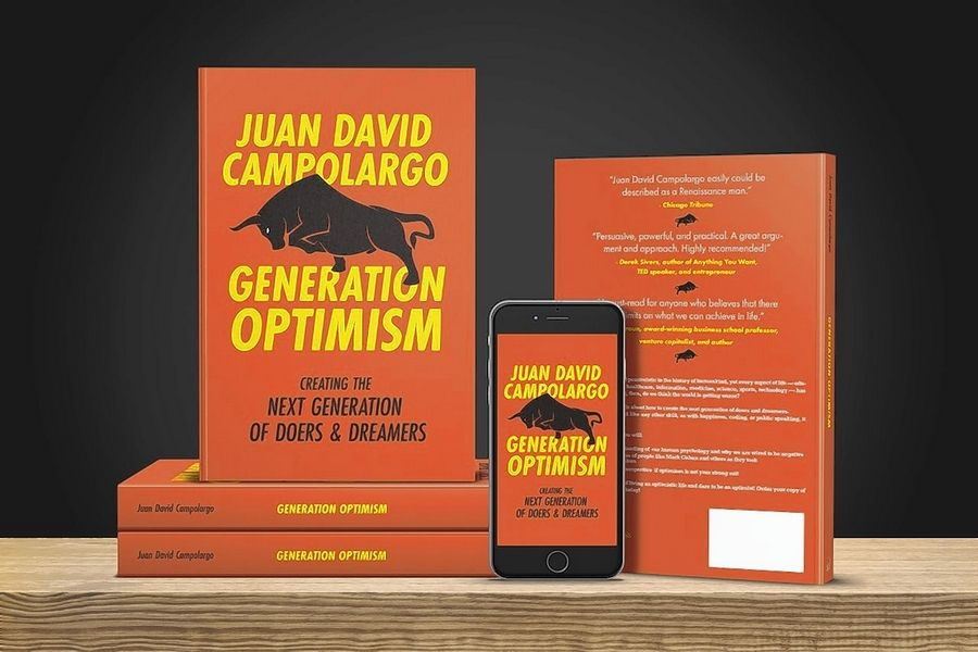 "Juan David Campolargo, 18, of Naperville, has written a book called ""Generation Optimism"" about the benefits of learning and adopting a positive point of view."