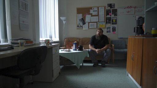 "Former drug-user turned councillor Jaan Vaart, sits inside the staff room of the Convictus drug rehabilitation center in Tallinn, Estonia on Thursday, June 27, 2019. After Fentanyl, ""Heroin was like injecting water,"" he said. The tiny Baltic state has battled nearly two decades a fentanyl epidemic so severe its overdose death rate was almost six times the European average. Although police won the war on fentanyl the market shifted further towards synthetic drugs."