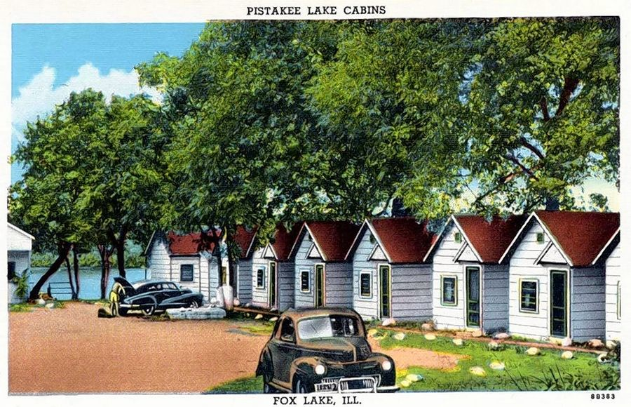 This 1948 image depicts some of the tourist cabins that dotted the shores in the Chain O' Lakes area. It is one of more than 500,000 unique postcard images donated by Lake County Discovery Museum to the Newberry Library in Chicago as part of the Curt Teich archive.