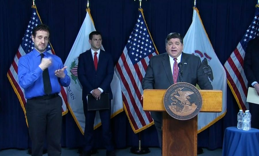 Gov. J.B. Pritzker updates the state on the COVID-19 situation.
