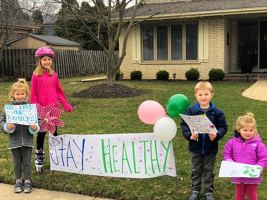 Lady Of The Wayside >> Our Lady of the Wayside teachers hold drive-by parade for ...