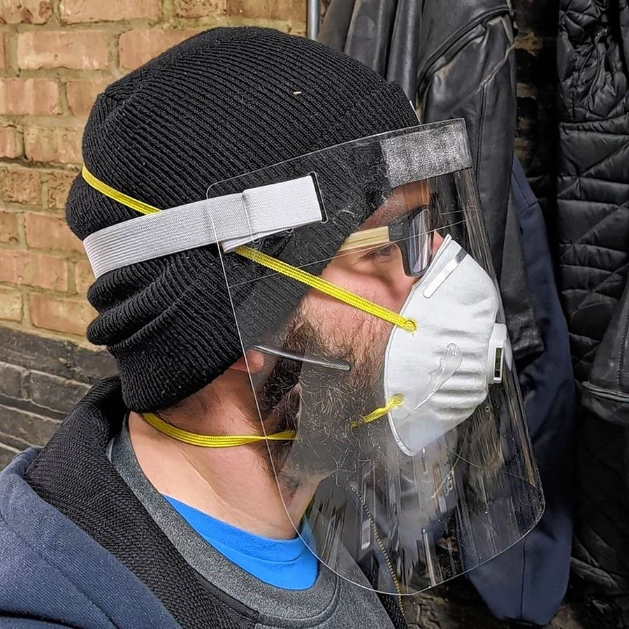 Bridgewater Studio in Chicago is making emergency face shields for the City of Chicago's first responders. The local design and fabrication studio created a supply chain at its Bridgeport location to manufacture 150,000 face shields by Wednesday, April 8.