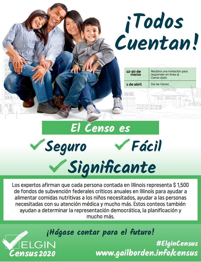 Gail Borden Public Library in Elgin is closed due to the coronavirus outbreak. Officials are trying to educate Latinos about the 2020 Census through fliers and videos in Spanish via social media.