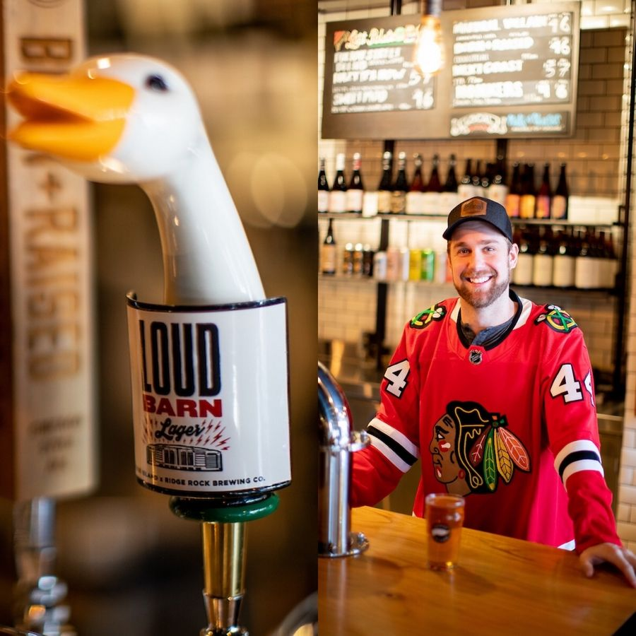 "Blackhawks defenseman Calvin de Haan and some friends own Ridge Rock Brewery in Ontario, Canada. The group partnered with Goose Island Brewery in Chicago to collaborate on a beer, ""Loud Barn Lager,"" to benefit the Chicago Blackhawks Foundation."