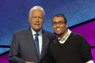 "Courtesy of Sony Pictures Television Naperville resident Hemant Mehta will compete on ""Jeopardy!"" in an episode airing Wednesday. The show is hosted by Alex Trebek."