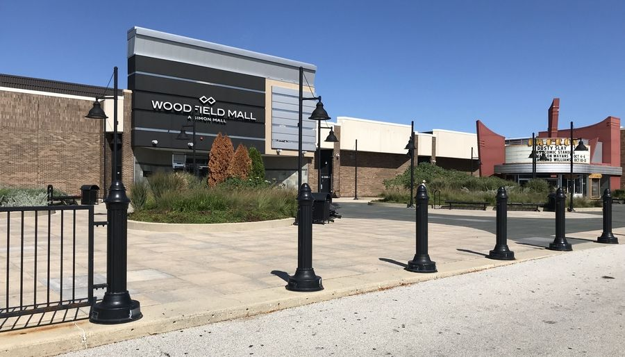 Woodfield Mall in Schaumburg, the largest shopping center in Illinois, is shut down amid the COVID-19 outbreak. Schaumburg is asking commercial landlords like the mall's owner to be flexible with rent payments from struggling tenants.