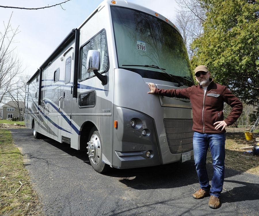 Palatine resident Ryan Gable says he's willing to donate use of this Winnebago Vista LX to a Northwest suburban medical professional who is concerned about bringing the COVID-19 virus home after treating patients on the job.
