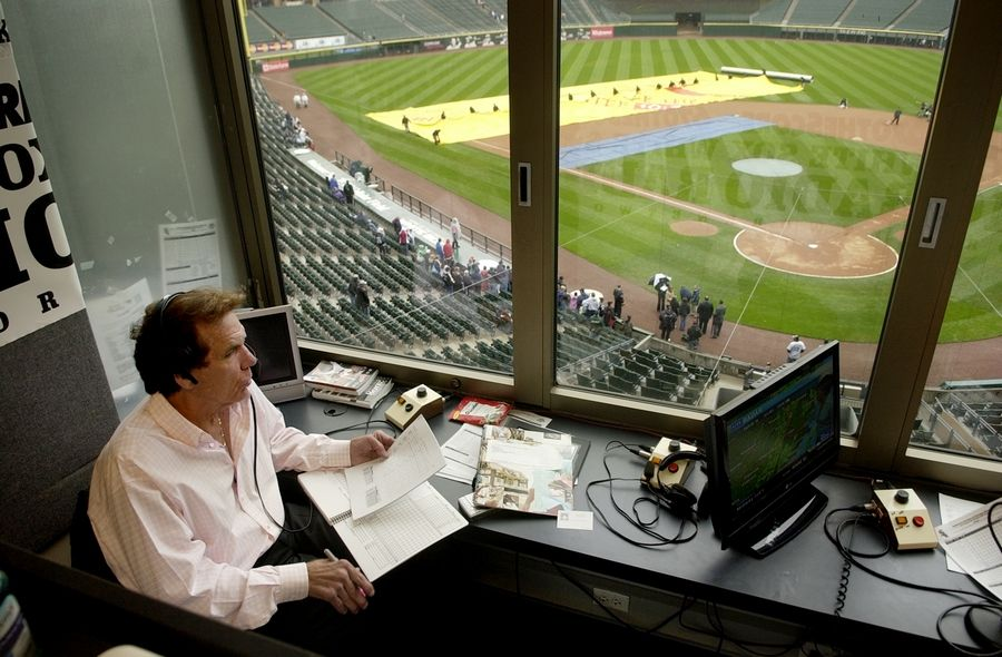 Radio broadcaster Ed Farmer, here in 2008, died Wednesday night. He was 70.