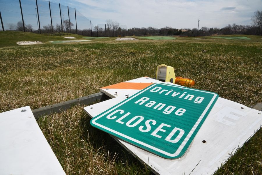 The driving range at the Libertyville Sports Complex, Route 45 and Peterson Road, has been closed awaiting sale for development of industrial/warehouse buildings.