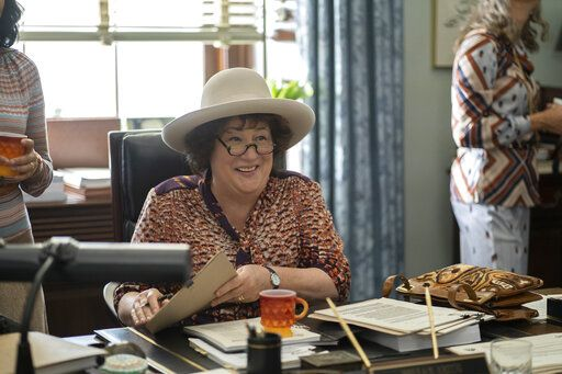 "This image released by FX shows Margo Martindale as Bella Abzug in a scene from the miniseries ""Mrs. America,"" an FX original series premiering April 15 on Hulu. (Sabrina Lantos/FX via AP)"