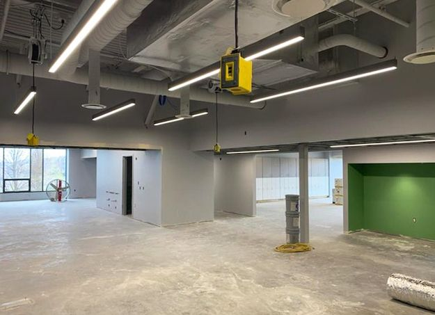 Work continues inside the Hawthorn School for Young Learners kindergarten center on Aspen Drive in Vernon Hills. Most of the electrical, mechanical and plumbing systems are complete.