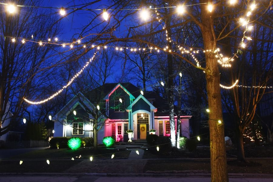 Grayslake residents along Lindsey Avenue have decorated their homes and trees with lights to bring joy to their neighbors during the COVID-19 pandemic.