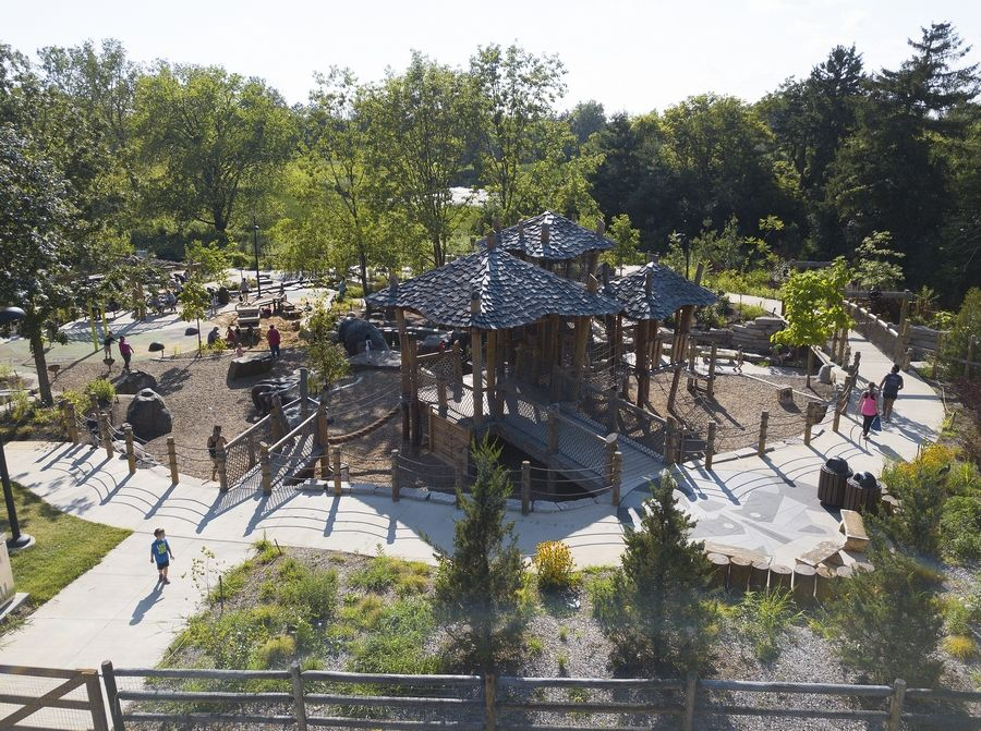 Bison's Bluff Nature Playground in Schaumburg is among the Schaumburg Park District facilities and programs that will remain shut down through May 30 due to the extension of the state's stay-at-home order.