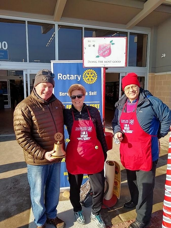 In December, volunteers with the Rotary Club of Elgin manned the Red Kettle during The Salvation Army's annual fundraising campaign.