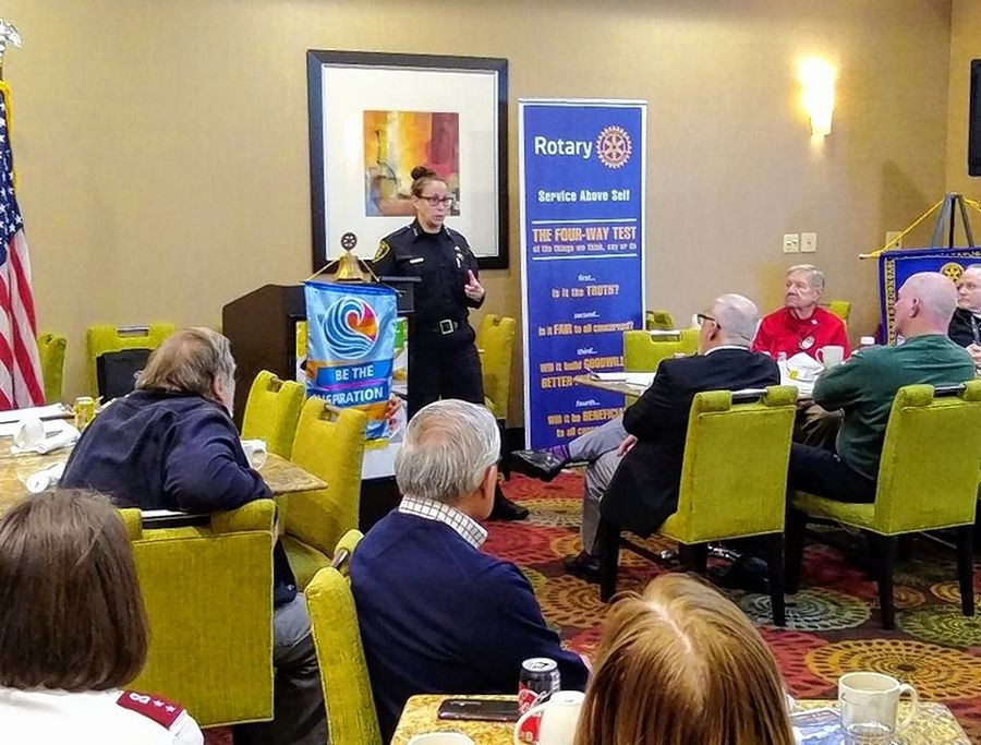 The Rotary Club of Elgin hosts lunch meetings featuring special guest speakers. During the stay-at-home order, the club is hosting the weekly meetings on Zoom.