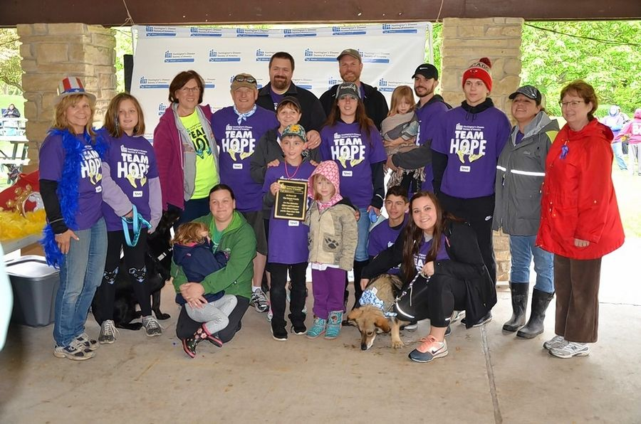 Bos-Stecyk Family Team at the 2018 Team Hope Walk in Naperville. This year's fundraiser to fight Huntington's disease takes place May 17 as a virtual event.