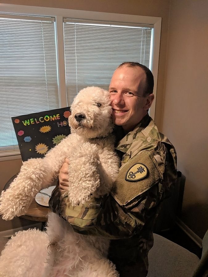 When he finished his Army basic training, Vernon Hills native Shalom Klein was thrilled to come home to his wife, Eli, and their Goldendoodle, Buddy.