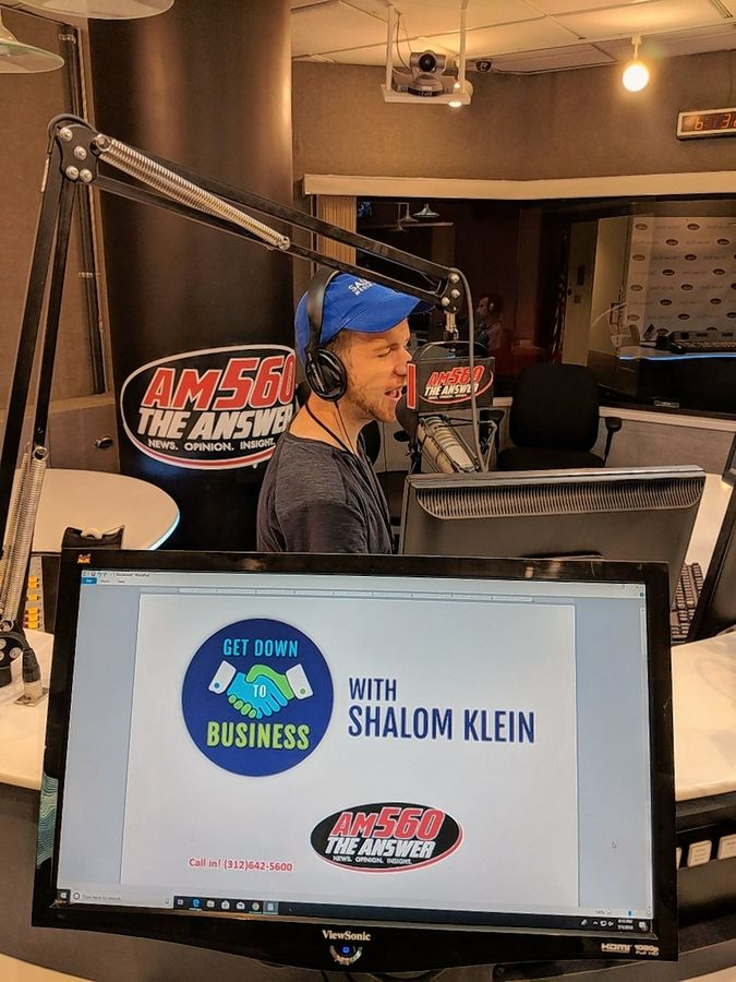 "An entrepreneur who hosts his own ""Get Down to Business"" radio show, Vernon Hills native Shalom Klein gave up his accounting career to work with not-for-profits and serve as a platoon leader for a U.S. Army Reserve in Arlington Heights."