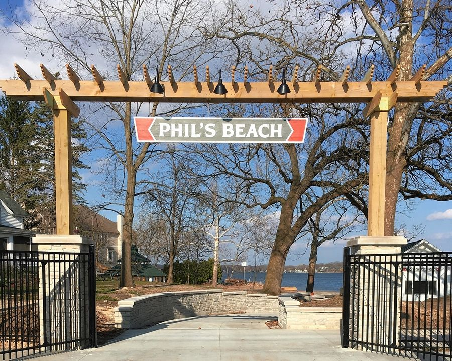 The renovated Phil's Beach won't open as scheduled this month in Wauconda because of the COVID-19 crisis.