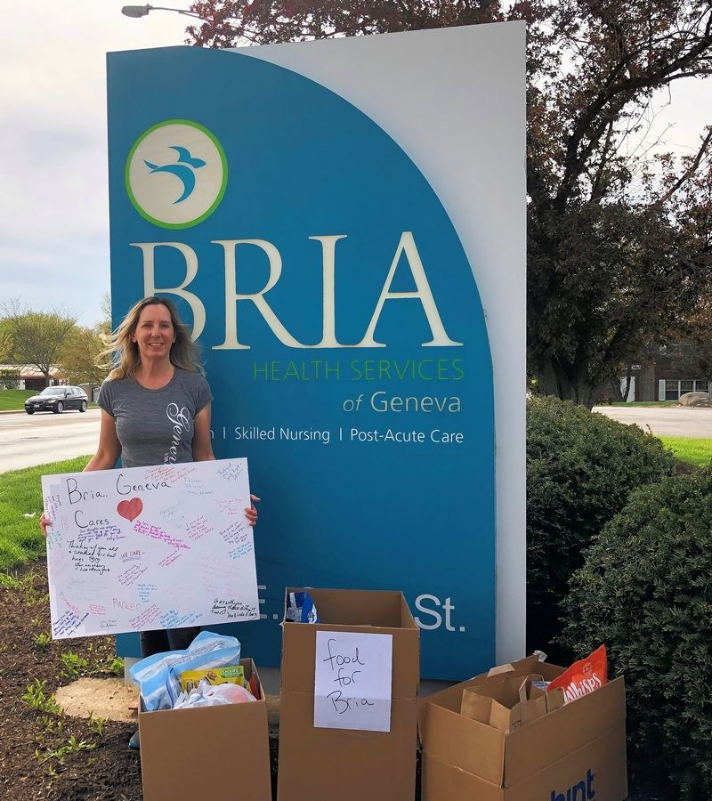 Jennifer Siegele, a Geneva resident, is organizing efforts to support the staff and residents of Bria of Geneva, a nursing home hit hard by the coronavirus crisis.